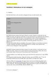 1 Hoofdstuk I: Basisopbouw van een webpagina I.1 ... - Web-garden