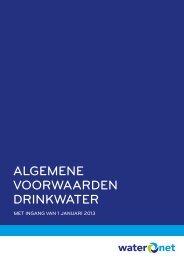 Algemene voorwaarden drinkwater (pdf) - Waternet