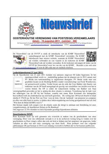 Nieuwsbrief nr.68 - Oosterhoutse Vereniging van ...