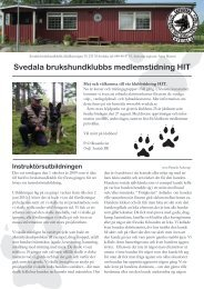 HIT - Svedala brukshundklubb