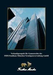 FHM Fondhaus München Vermögensverwaltung GmbH - GoMoPa