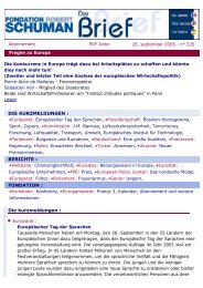La Lettre de la Fondation - La Fondation Robert Schuman