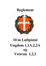 REGLEMENT FOR PISTOLSKYDNING - 15M - Dansk Skytte Union