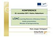 LOAC, Konference i Kbh, 2 oplæg - Interfolk, Institute for Civil Society