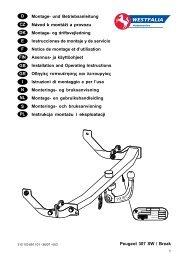 Peugeot 307 SW / Break D Montage- und Betriebsanleitung Návod k ...