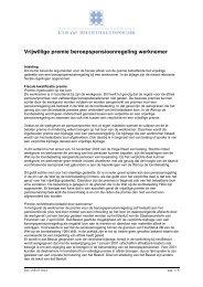 Vrijwillige premie beroepspensioenregeling werknemer