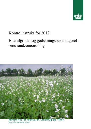 Instruks for Efterafgrøder og Randzoner