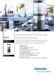 HR2181/00 Philips blender - Gebroeders Nijs