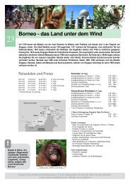 Borneo - das Land unter dem Wind - Explorer Tours & Travel