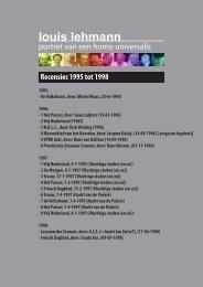 Recensies 1995 - 1998 - Louis Lehmann