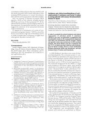 Incidence and clinical manifestations of activated protein C ...