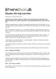 Khaders fire fejl som leder