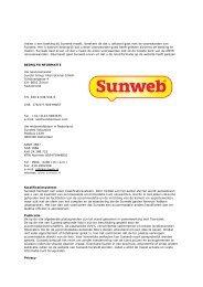 Voorwaarden Sunweb vakanties - Sunweb Autovakanties