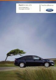 Prospekt zum Fordmondeo mit trivalentem Antrieb - Auto Fiegl Gmbh