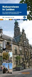 Natuursteen in Leiden: Een stadswandeling langs 2000 jaar ...