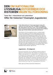 Offer för historien? Exemplet Jugoslavien - Forum för levande historia