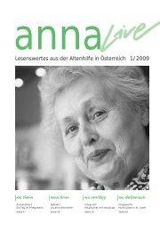 Lesenswertes aus der Altenhilfe in Österreich 1/2009