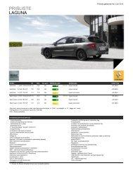 Priser - Renault