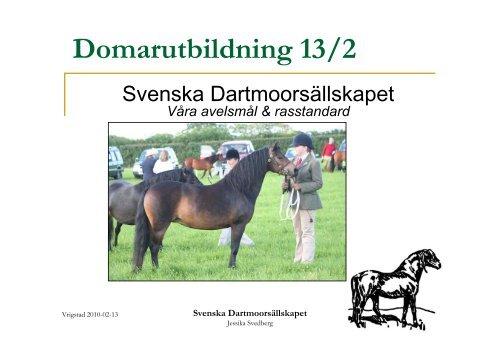 Svenska Dartmoorsällskapet - Stall Hillock