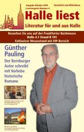 Günther Pauling - Halle liest - Projekte-Verlag Cornelius