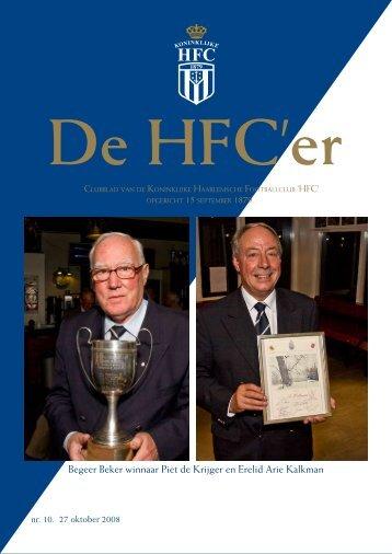 Begeer Beker winnaar Piet de Krijger en Erelid ... - Koninklijke HFC