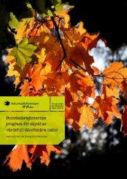 Skydd av tätortsnära natur - Naturskyddsföreningen