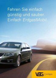 Fahren Sie einfach günstig und sauber. Einfach Erdgasmobil.