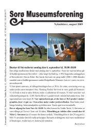 Nyhedsbrev august 2010 - Sorø Museumsforening