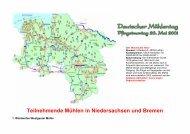 Teilnehmende Mühlen in Niedersachsen und Bremen