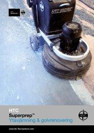 Ytavjämning & golvrenovering - HTC Superfloor