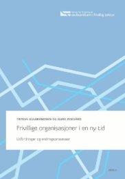 Frivillige organisasjoner i en ny tid - Senter for forskning på ...