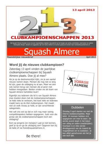 Word jij de nieuwe clubkampioen? - Squash Almere