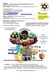 Judisk-skandinavisk Kultur & Sällskapsklubb, för alla - Jewish EDEN