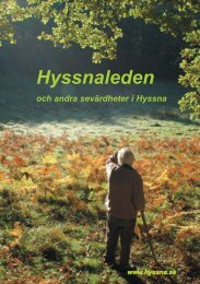 Broschyr Hyssnaleden - Byalag.se