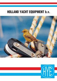 Download onze HYE catalogus - holland yacht equipment