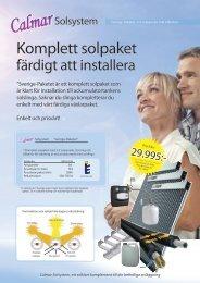 Calmar Sol paketbroschyr - Trebema