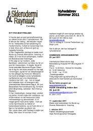 Sommer 2011 - Dansk Sklerodermi & Raynaud Forening
