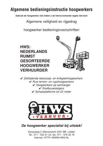 Algemene bedieningsinstructie hoogwerkers - Hws