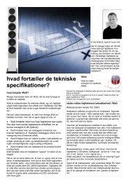 om tekniske specifikationer.pdf - System Audio