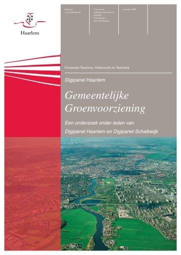 Gemeentelijke Groenvoorziening - Gemeente Haarlem