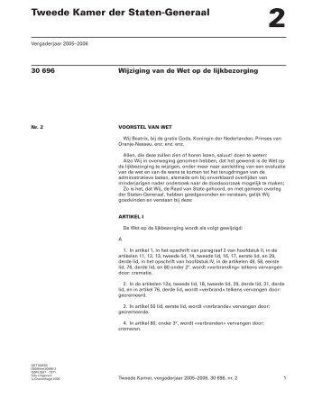 Wetsvoorstel van het kabinet (ministerraad)(pdf) - Fomat
