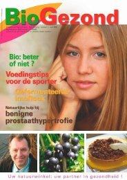 Infoblad over Gezond Leven - 5de jaargang - nummer ... - BioGezond