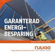 Ruukki energipanelsystem, broschyr