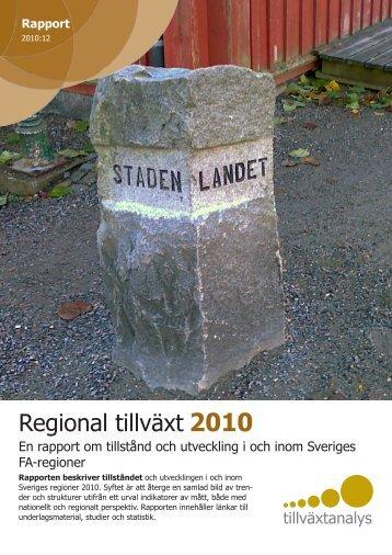 Regional tillväxt 2010
