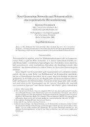 Next Generation Networks und Netzneutralität ... - Rainer Fischbach