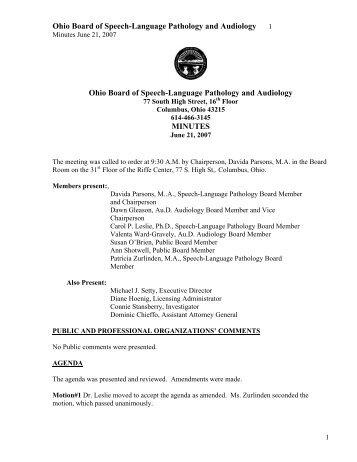 Speech Language Pathology And Audiology Board Accusation