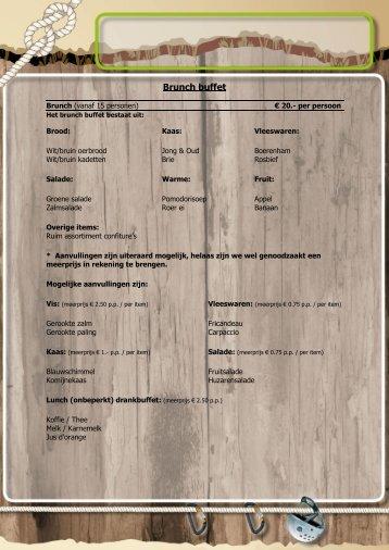 Brunch buffet - Saplaza