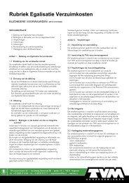 Rubriek Egalisatie Verzuimkosten - TVM verzekeringen