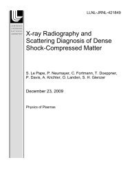 X-ray Radiography and Scattering Diagnosis of Dense Shock ...
