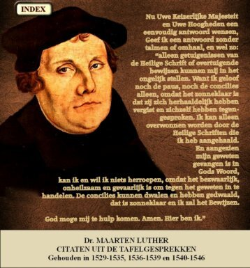 citaten uit de tafelgesprekken - Geschriften van Maarten Luther